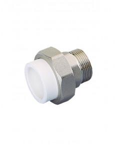 PPR straight fitting M 20x1/2 4902  grey - 1