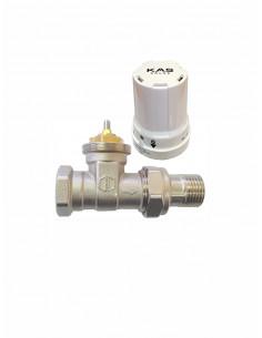 Termostatisks ventilis taisns ar galvu 1304010 - 1
