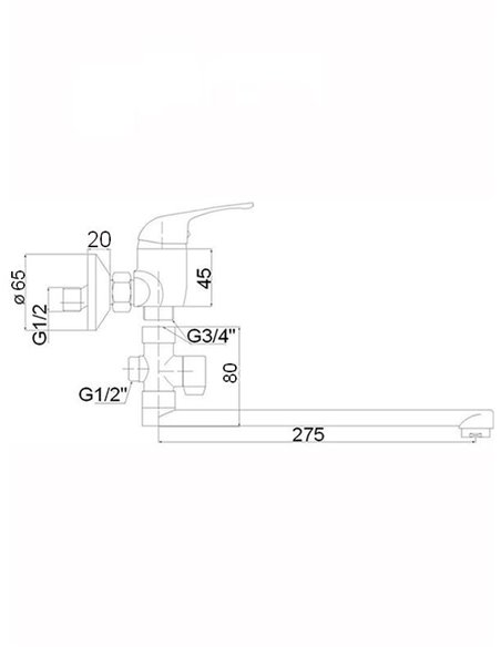 Vannas jaucējkrāns (300) ar komplektu MG-3234 MAGMA SATO - 2
