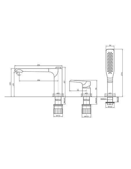 Vannas jaucējkrāns 3-daļīgs MG2410 MAGMA VENTA - 2