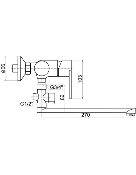Vannas jaucējkrāns ar komplektu MG-1934 MAGMA GAUJA - 2