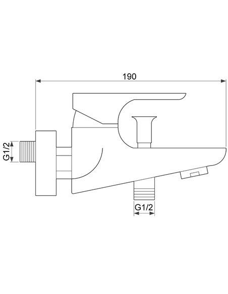 Vannas jaucējkrāns ar komplektu MG-2321 MAGMA SALACA - 2