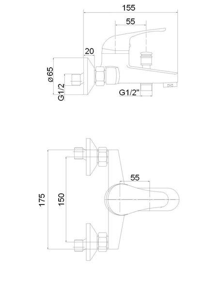 Vannas jaucējkrāns ar komplektu MG-6221 MAGMA JUPITS - 2