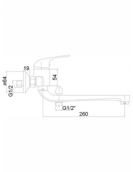 Vannas jaucējkrāns ar komplektu MG-6237 MAGMA JUPITS - 2