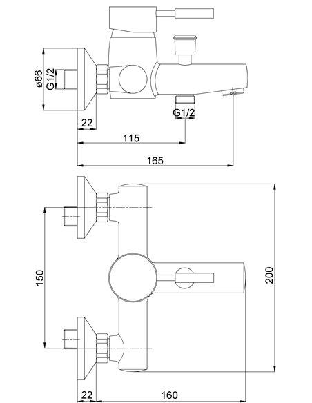 Vannas jaucējkrāns MG-2020 MAGMA ABAVA - 2