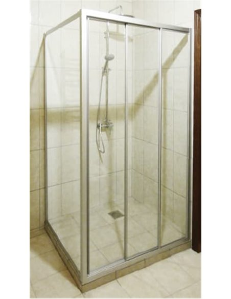 GuteWetter dušas stūris Practic Square GK-403 labā - 2