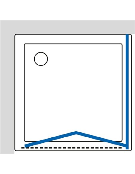 GuteWetter dušas stūris Practic Square GK-404 kreisā - 8