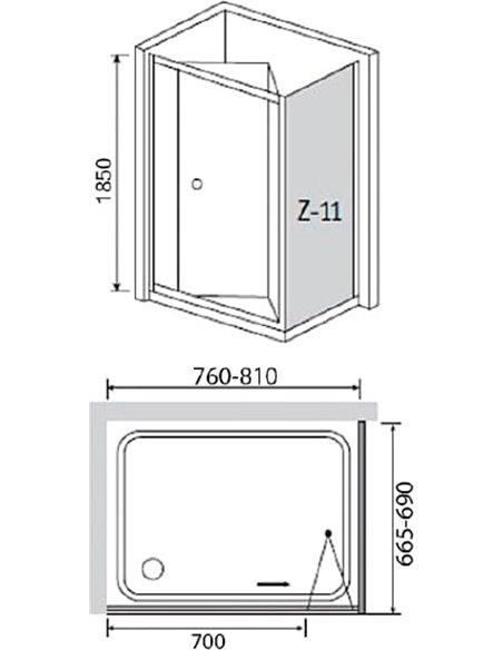 RGW dušas stūris Classic CL-41 - 4
