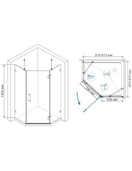 RGW dušas stūris Hotel HO-82 - 3
