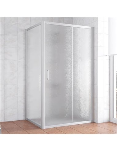 Vegas Glass dušas stūris ZP+ZPV 100*90 07 02 - 1