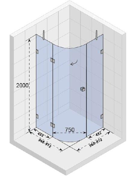 Riho dušas stūris Scandic Mistral M308 - 3
