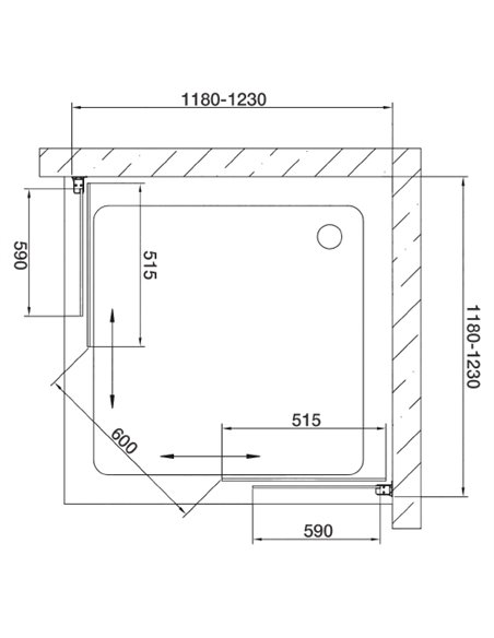 Vegas Glass dušas stūris ZA 120 05 05 - 7