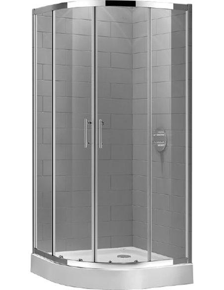 Cezares dušas stūris ECO-O-R-2-80-C-Cr - 3