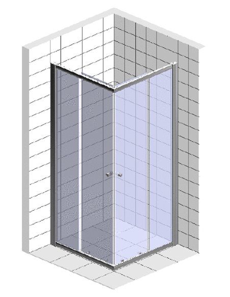 BelBagno dušas stūris Uno A 2 90 C Cr - 3