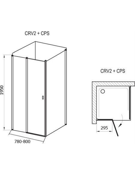 Ravak dušas stūris CRV2-80+CPS - 4