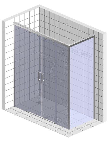 GuteWetter dušas stūris Slide Rectan GK-865 kreisā - 6