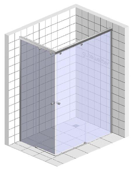 GuteWetter dušas stūris Slide Rectan GK-864 labā - 9