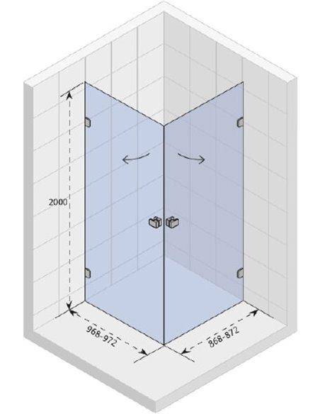 Riho dušas stūris Scandic Soft Q209 - 3