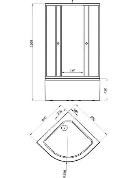 Triton dušas stūris Вирго 90x90 - 4