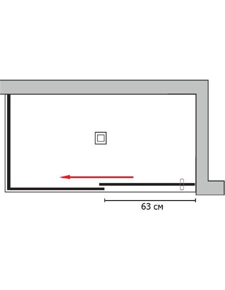 GuteWetter dušas stūris Slide Rectan GK-863B kreisā - 5