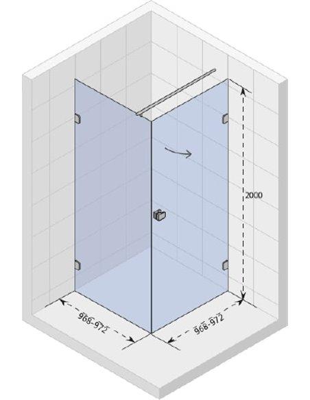 Riho dušas stūris Scandic Soft Q201 - 4