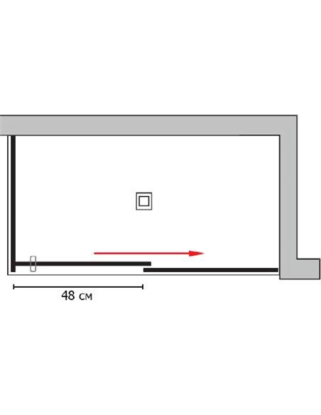 GuteWetter dušas stūris Slide Rectan GK-863A labā - 7
