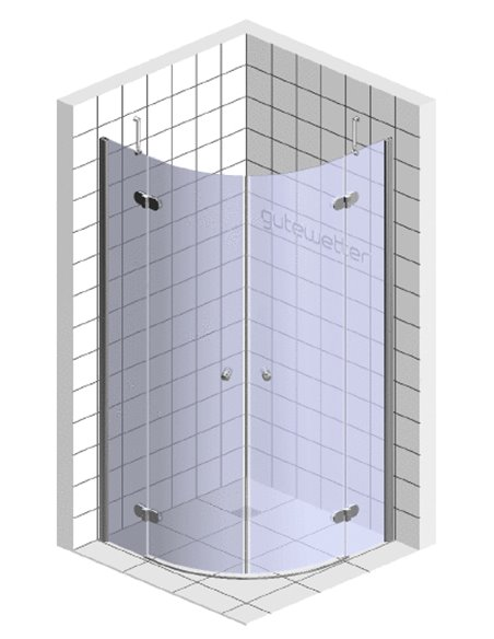 GuteWetter dušas stūris Lux Meliori GK-102 - 6