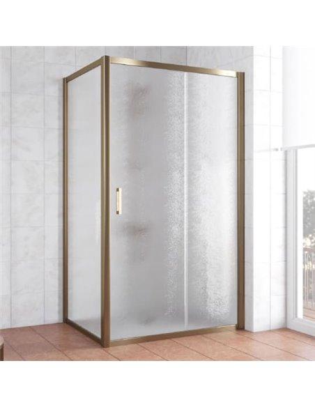 Vegas Glass dušas stūris ZP+ZPV 100*80 05 02 - 1