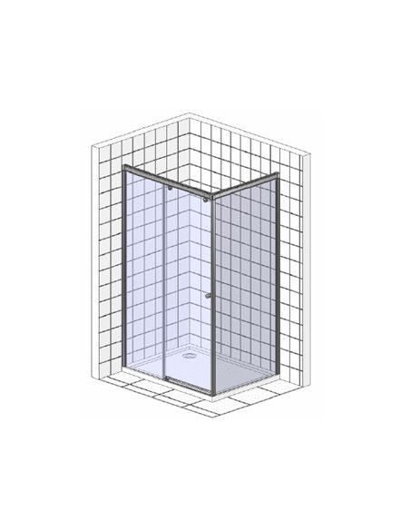 Vegas Glass dušas stūris ZP+ZPV 100*80 05 02 - 6