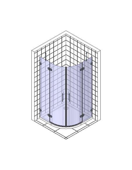 Radaway dušas stūris Euphoria PDD 100 - 7