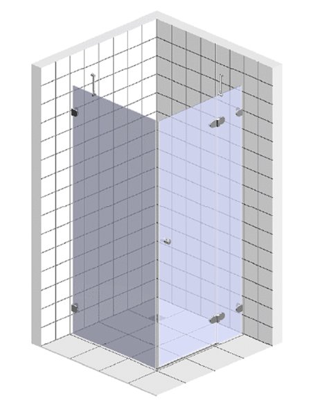 GuteWetter dušas stūris Lux Square GK-003 правый - 5