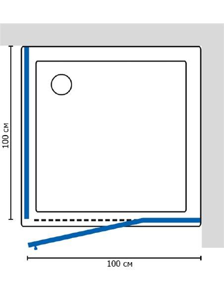 GuteWetter dušas stūris Lux Square GK-003 правый - 6