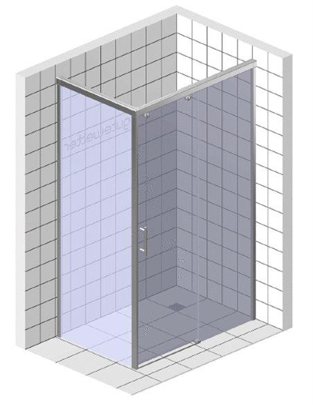 GuteWetter dušas stūris Slide Rectan GK-863A labā - 6