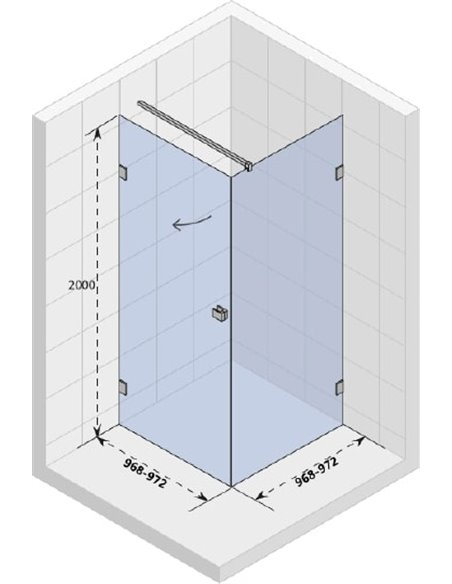 Riho dušas stūris Scandic Mistral M201 - 4