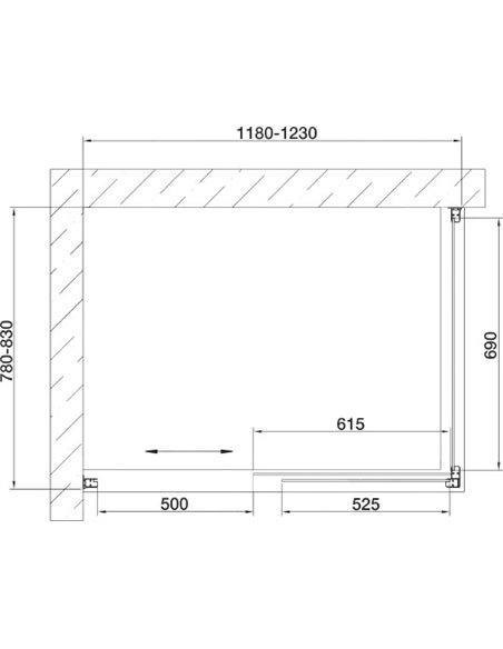Vegas Glass dušas stūris ZP+ZPV 120*80 07 02 - 7