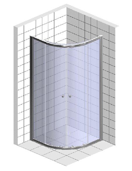 Vegas Glass dušas stūris ZS-F 100*80 07 01 - 6