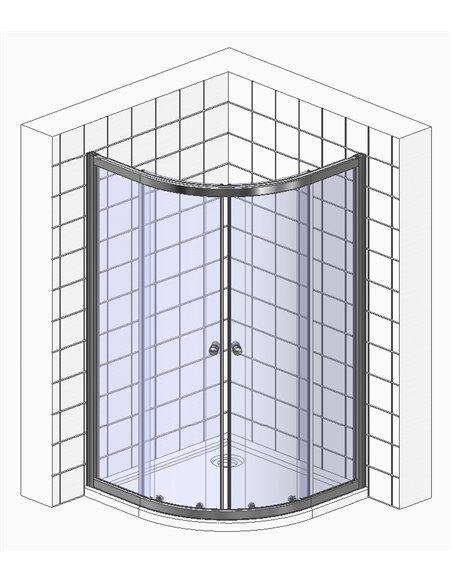BelBagno dušas stūris Uno R 2 85 C Cr - 3