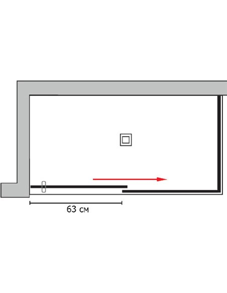 GuteWetter dušas stūris Slide Rectan GK-863B labā - 4