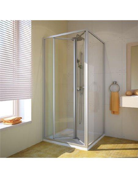 GuteWetter dušas stūris Practic Square GK-404 kreisā - 1