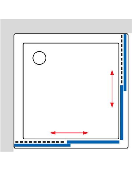 GuteWetter dušas stūris Practic Square GK-422 - 9