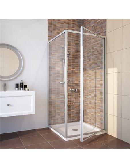GuteWetter dušas stūris Practic Square GK-401 labā - 1