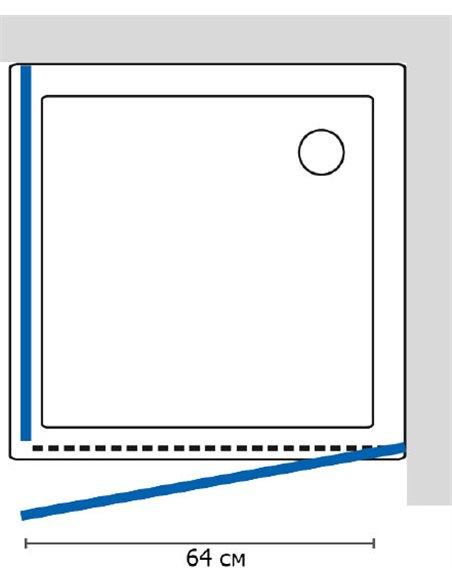 GuteWetter dušas stūris Practic Square GK-401 labā - 5