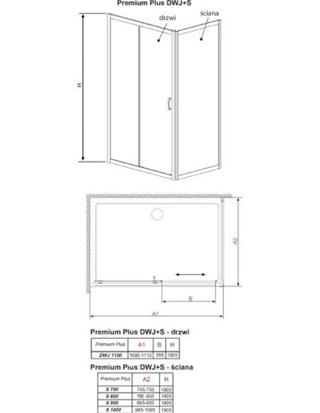 Radaway dušas stūris Premium Plus DWJ+S - 14