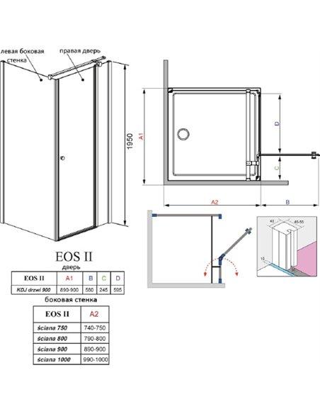 Radaway dušas stūris EOS II KDJ - 6