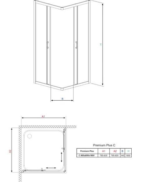Radaway dušas stūris Premium Plus C - 11