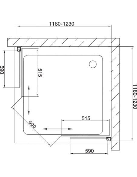 Vegas Glass dušas stūris ZA 0120 08 01 - 7