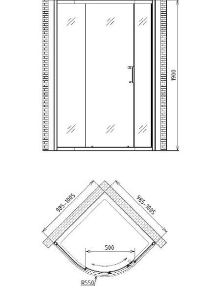 Gemy dušas stūris Victoria S30081A - 4