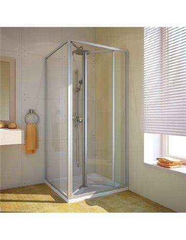 GuteWetter dušas stūris Practic Square GK-404 labā - 1