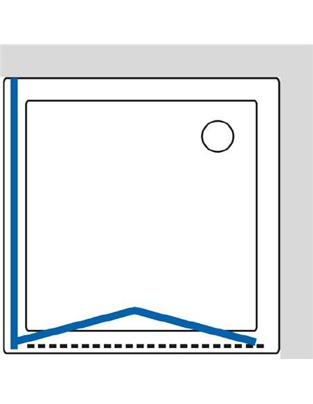 GuteWetter dušas stūris Practic Square GK-404 labā - 8