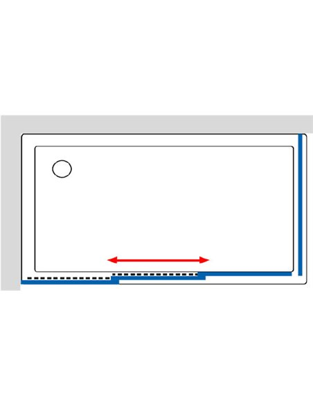 GuteWetter dušas stūris Practic Rectan GK-403 kreisā - 10